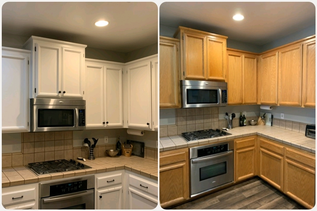 My First Kitchen Cabinet Chalk Paint Makeover Brushed by ...